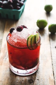 Olallieberry Cocktail by HonestlyYUM