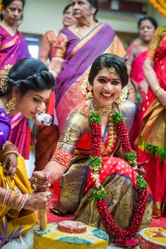 Looking for South Indian bridal look in red saree with dupatta? Browse of latest bridal photos, lehenga & jewelry designs, decor ideas, etc. on WedMeGood Gallery. Telugu Wedding, Saree Wedding, Wedding Bride, Bridal Sarees, Wedding Bells, Bridal Blouse Designs, Saree Blouse Designs, Blouse Patterns, Sari Blouse