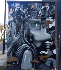 Bricklane, Londra: nuovo pezzo della street artist statunitense ELLE
