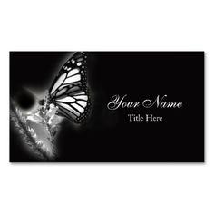 Modern Butterfly Business Card