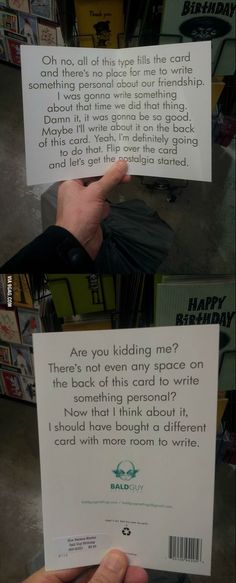 The perfect birthday card For when you don't know what to write