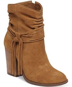 96141699048c Jessica Simpson Sesley Women s Boot B(M) US Honey-Suede. Dial in the  designer look with this trend-right tasseled boot. Suede leather upper with  wraparound ...