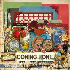 A free mini kit designed to coordinate with the Coming Home collection.