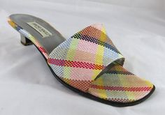 Vintage Italian Bruno Magli Pastel Plaid Peep by GhicChicBoutique, $35.00