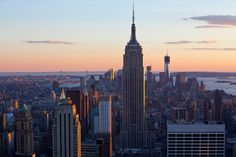 NYC Empire State sunset