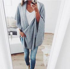 cozy grey wrap