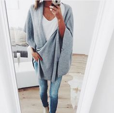 cozy grey wrap