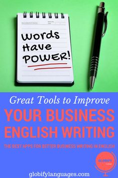 Improve your English business writing with technology. Check and improve your text with one of these useful business English writing tools and apps. English Writing, English Study, Learn English, English Vocabulary, English Grammar, Business Writing, Improve Your English, English Tips, Best Apps