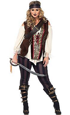 Adult Captain Blackheart Pirate Costume Plus Size