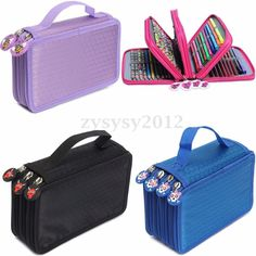 Pen Sketch Pencil Case Box Travel Zipper Cosmetic Brush Makeup Storage Bag Pouch