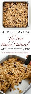 The best baked oatmeal - get the recipe and step-by-step video at barefeetinthekitchen.com