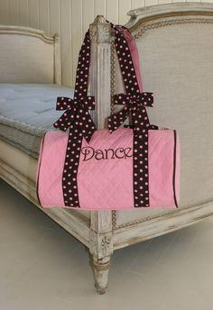 Pink and Brown Dance Bag