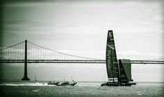 Congratulations to Emirates Team New Zealand to lead 2 to 0 in the first day of the @America's Cup finals!! Great stuff guys!!  I took this pic back in May from the Alcatraz Island. They were practicing before the Louis Vuitton Cup.  #photography #AmericasCup #EmiratesTeamNewZealand #AC72 #sailing #boats #SanFrancisco #California #USA #NewZealand #GoldenGateBridge #Bay