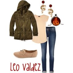 """""""Leo Valdez (Percy Jackson Series)"""" my personal favorite series of all time. I like the jacket in this pic."""