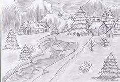 Imagini Cu Peisaje De Iarna In Creion Home Room Design, Teen Wolf, Doodle Art, Diy And Crafts, Doodles, Tapestry, Snow, Cool Stuff, Drawings