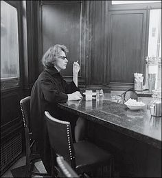 Woman at a Counter Smoking, N.Y.C., 1962 #DianeArbus