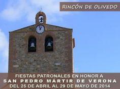 #RincónDeOlivedo celebrará sus #fiestas patronales en honor a San Pedro Mártir de Verona los días; 25, 26, 27, 28 de abril y 29 de mayo. ♫ #FiestasRiojanas ♪ ♫ ♪