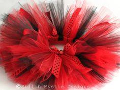 Ladybug Tutu-Red and black tutus-Ladybug birthday-Lady bug birthday party-Ladybug Costume on Etsy, $25.49