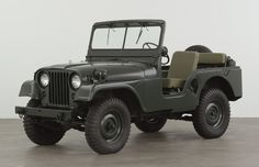 """""""The Legendary American Jeep"""" Truck: Utility Ton 4 x 4 Jeep Willys-Overland Motors, Inc., Toledo, Ohio (American, established The Museum of Modern Art Architecture and Design Collection Jeep Willys, Jeep Cj, Jeep Truck, Jeep Wrangler, Military Jeep, Military Vehicles, Old Jeep, S Car, Ford"""