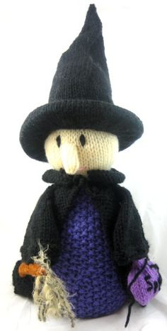 Free Knitted Halloween Witch Pattern