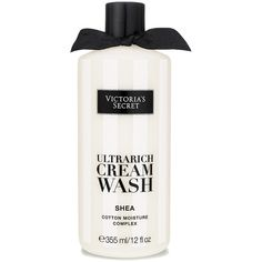 Victoria's Secret Shea Ultrarich Cream Wash (£14) ❤ liked on Polyvore featuring beauty products, bath & body products, body cleansers and body wash