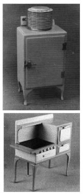Helen Dorsett (1985). Kitbashing Mini Reproduction's Stove and Refrigerator. Article covered a  general kitbash of a 1930 GE Refrigerator and the complete plans, patters, and instructions for a 1929-1930 Windsor Gas Range from Sears, Roebuck. In The Scale Cabinetmaker, Volume 9:1. Issue available as digital download from dpllconline.com. Issue price: $6.