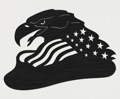 Free Bald Eagle of USA Flag-DXF files Cut Ready CNC Designs-DXFforCNC.com