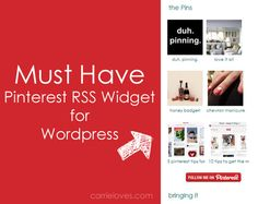 Must have for your sidebar: the new Pinterest RSS widget