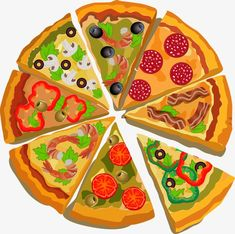 Illustration of Vector poster with pizza and a slice of pizza. vector art, clipart and stock vectors. Pizza Art, Pizza Menu, Pizza Pizza, Mini Pizzas, Pizza Facil, Pizza Box Design, Pizza Vector, Pizza Shapes, Kids Workshop