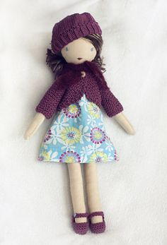 Lulu dressable cloth doll by TangledThings on Etsy