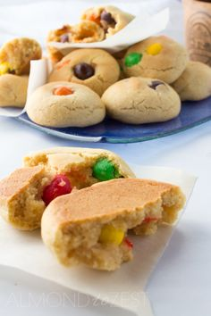 Peanut M&M Cookies - Big, soft and chewy these cookies are bursting with lots and lots of peanut M&M's! Super quick and easy to make!!