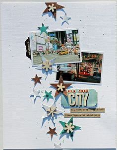 New York City scrapbook layout by Melissa Mann