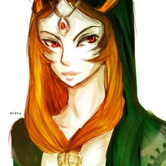 Legend of Zelda: Twilight Princess Midna fanart by Laughing-Dragons on deviantArt
