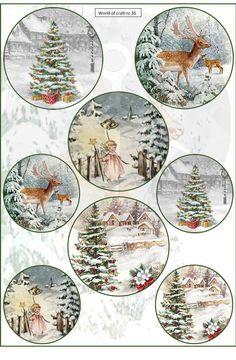 vel parelpapier - World of Craft Christmas Paper Crafts, Christmas Clipart, 1st Christmas, Christmas Printables, Vintage Christmas, Christmas Decorations, Decoupage Printables, Shabby Home, World Crafts