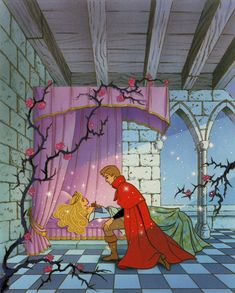 Sleeping Beauty - Disney storybook I still have my little Golden Book. Aurora was my first (I think) I saw the movie 3 times, it was my first movie ever. I wanted to grow up to be her. I did succeed in finding my true love of 34 years. Film Disney, Arte Disney, Disney Magic, Disney Art, Sleeping Beauty Maleficent, Disney Sleeping Beauty, Disney Dream, Disney Love, Disney And Dreamworks