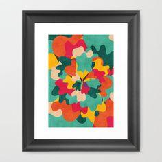 Aloha Camo Framed Art Print by Budi Satria Kwan - $37.00