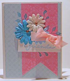 "DenamiAddict.blogspot.com  Floral ""friends"" card"