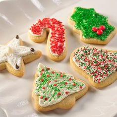 Snow -Topped Holiday Sugar Cookies (Easy; 66 cookies) #sugar #cookies