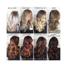 I love this color chart. Which color is your favorite ? #Tag your clients & hairstylists to show the accuracy of different tones.