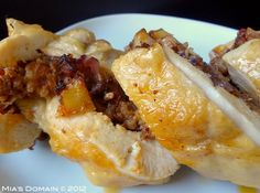 Mia's Domain | Real Food: Chicken Roulade with Apple Chorizo Stuffing