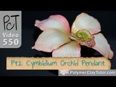 Cymbidium Orchid | arcilla del polímero Tutorial Vol-075