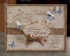 Stampin' Up Blooming with Kindness. This card was made using a beautiful card kit that I purchased.