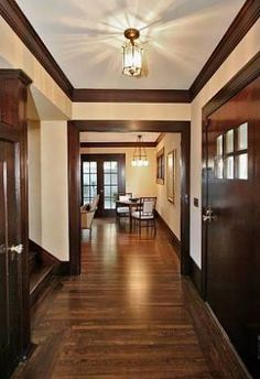 the entryway at 822 mendocino ave in berkeley i love the dark wood trim and doors - Dark Wood House Interior