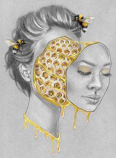 Hive Mind, Colored Pencil, 8.5x11