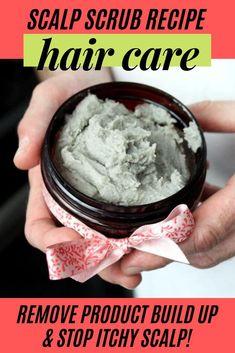 Exfoliating Scalp Scrub Recipe with Bentonite Clay