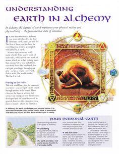 Elements Earth:  Understanding #Earth in Alchemy.