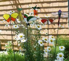 Various garden stakes