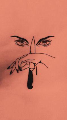 Cold revenge by johnnygloom Kunst Tattoos, Tattoo Drawings, Art Drawings, Sketch Tattoo, Tattoo Ink, Beautiful Tattoos, Cool Tattoos, Tatoos, Piercing Tattoo