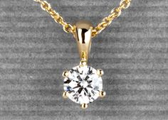 Venilia in gold - 0,31 carat brilliant with exceptional quality! #Yorxs #Diamantanhänger