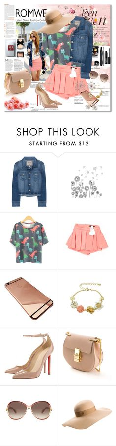 """""""Win this Cartoon Dinosaur Print T-Shirt"""" by astromeria ❤ liked on Polyvore featuring True Religion, Paper Heart, Chloé, Marc Jacobs, Maison Michel, Jennifer Behr, romwe, girly, nike and contestentry"""